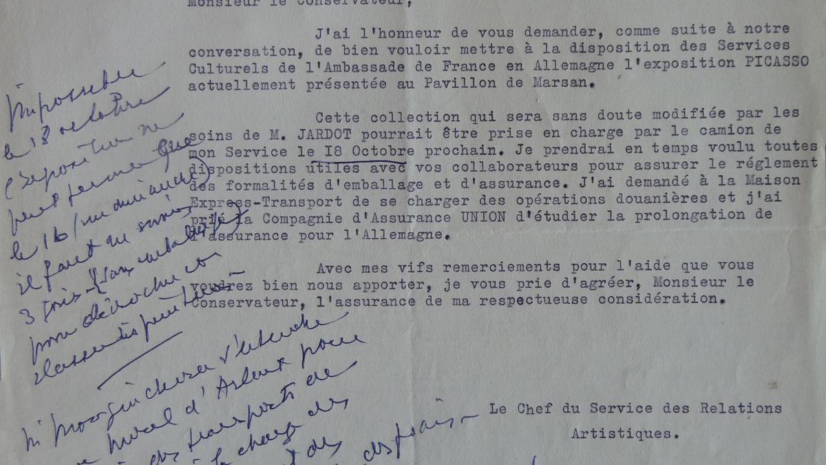 Carta de J. Mougin a Jacques Guerin del 20 de julio de 1955