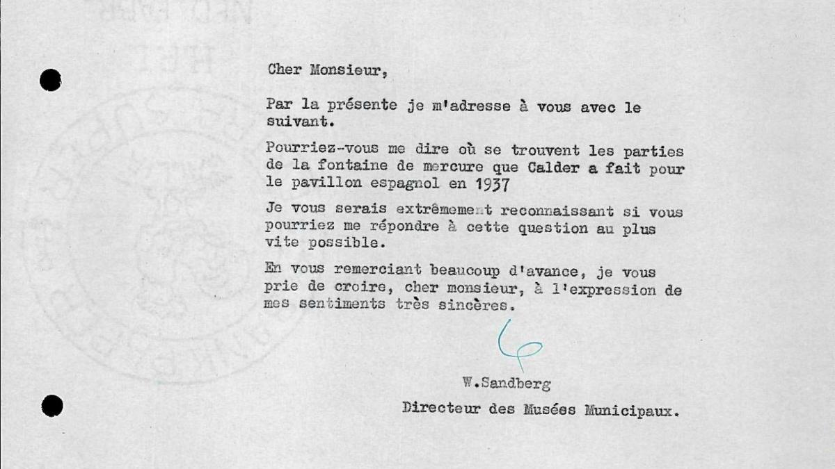 Willem Sandberg's letter to Maurice Lefebvre-Foinet, dated 2 December 1955