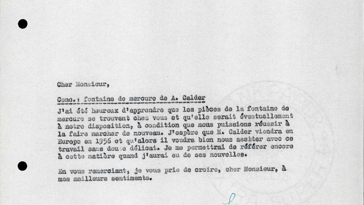 Carta de Willem Sandberg a Maurice Lefebvre-Foinet del 9 de diciembre de 1955