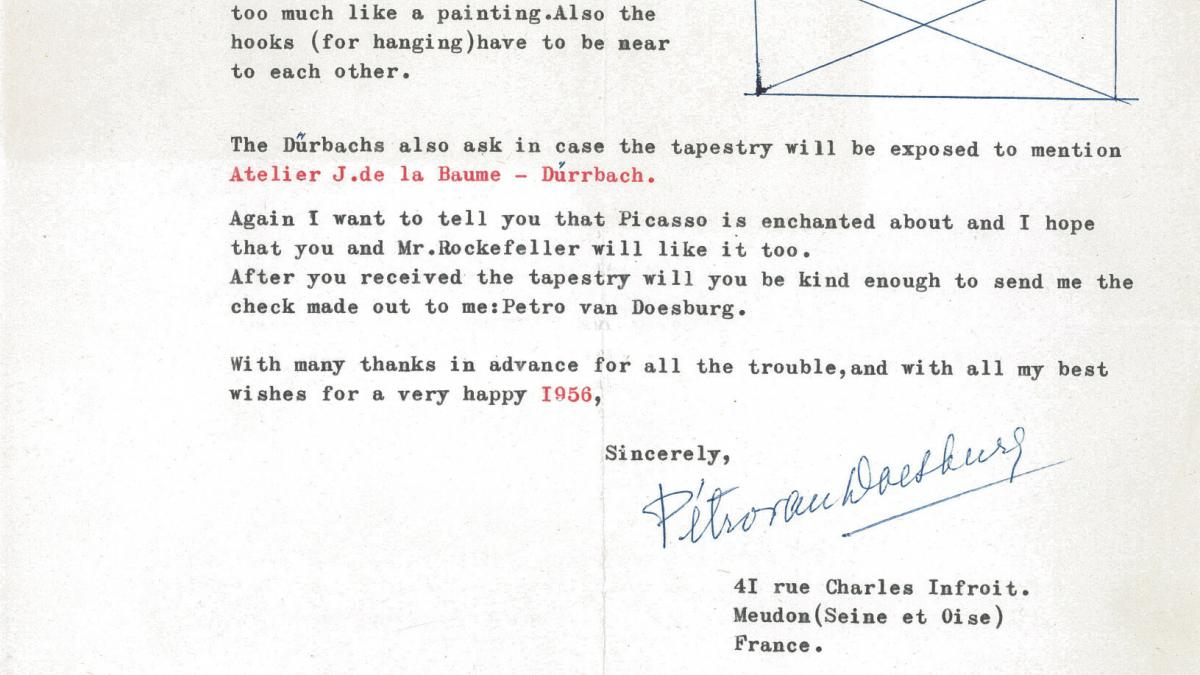 Nelly Van Doesburg's letter to Louise Boyer, dated 29 December 1955
