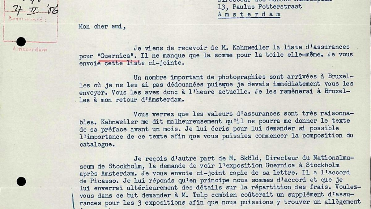 Robert Giron's letter to Willem Sandberg, dated 25 February 1956