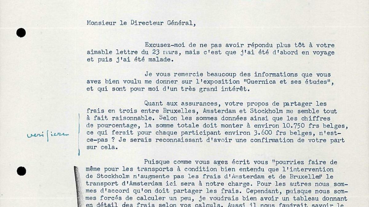 Otte Sköld's letter to Robert Giron