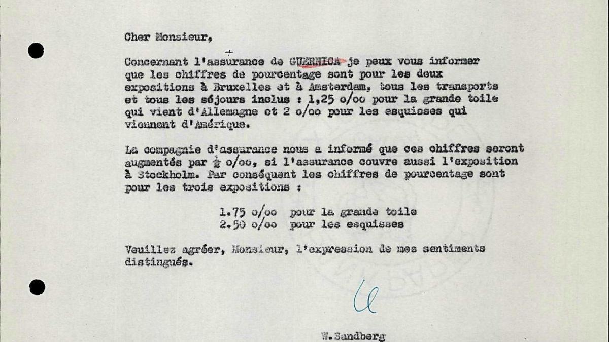 Carta de Willem Sandberg a Otte Sköld