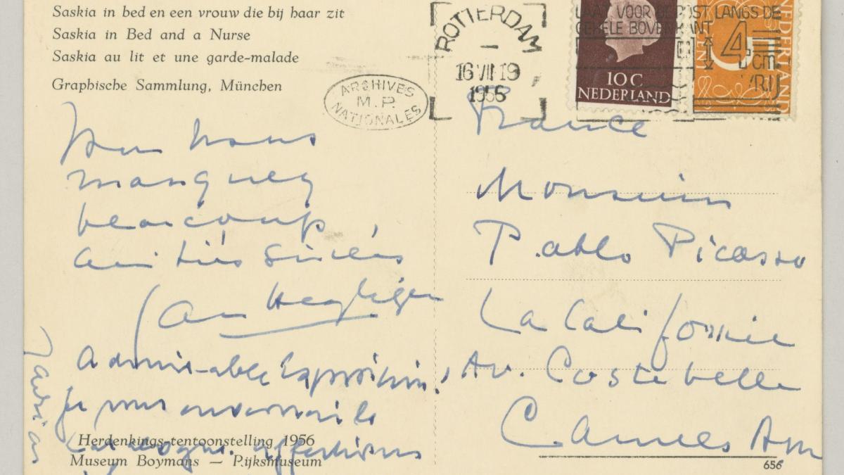 Daniel-Henry Kahnweiler's postcard to Picasso