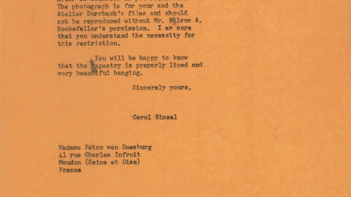 Carta de Carol K. Uht a Petro (Nelly) Van Doesburg