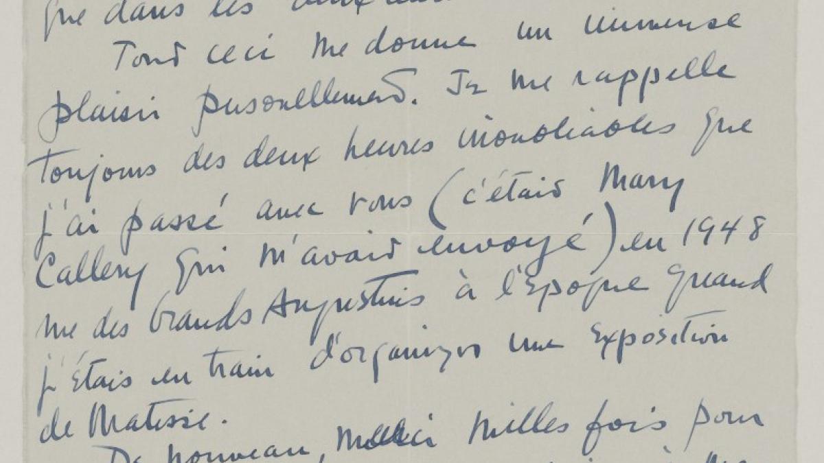 Carta de Henry Clifford a Pablo Picasso
