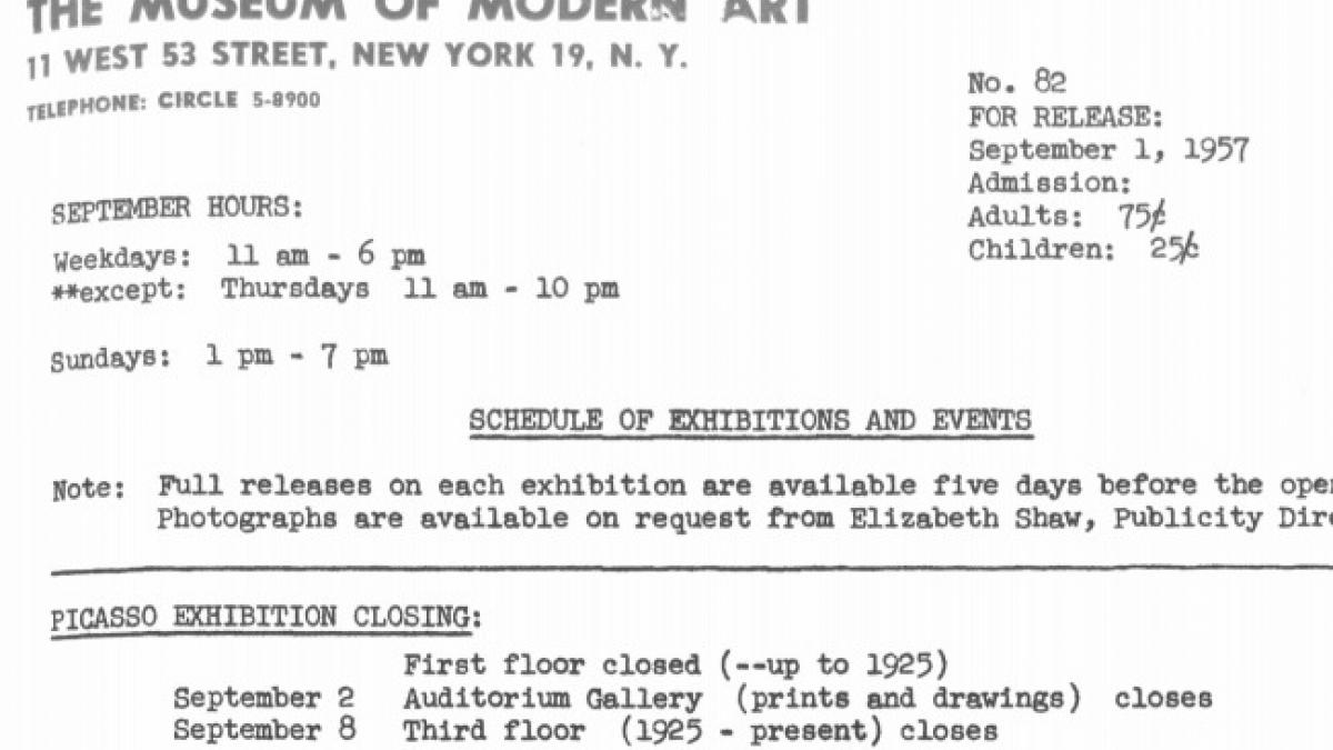 Second section of Picasso exhibition closing at the Museum of Modern Art
