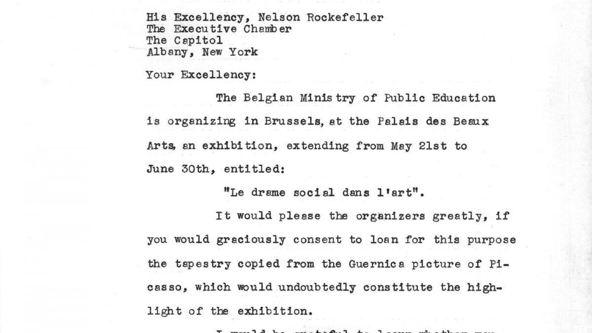 A letter from Jan-Albert Goris to Nelson Rockefeller, dated 22 April 1960