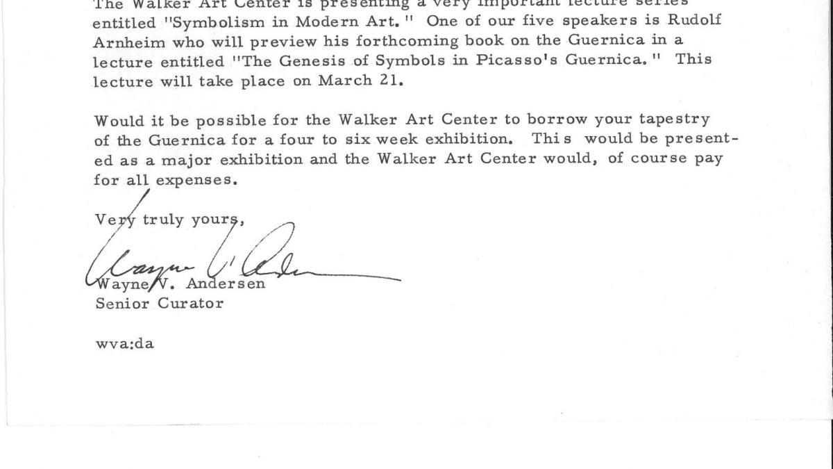 Carta de Wayne W. Andersen a Nelson Rockefeller