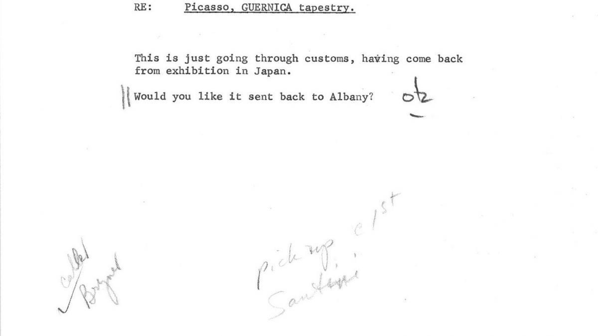 Carta de Carol K. Uht a Nelson Rockefeller del 9 de abril de 1963