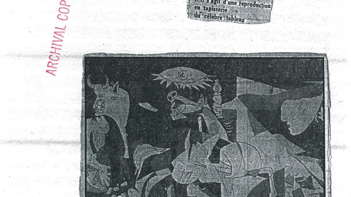 Guernica de Picasso de paso en el Museo de Antibes