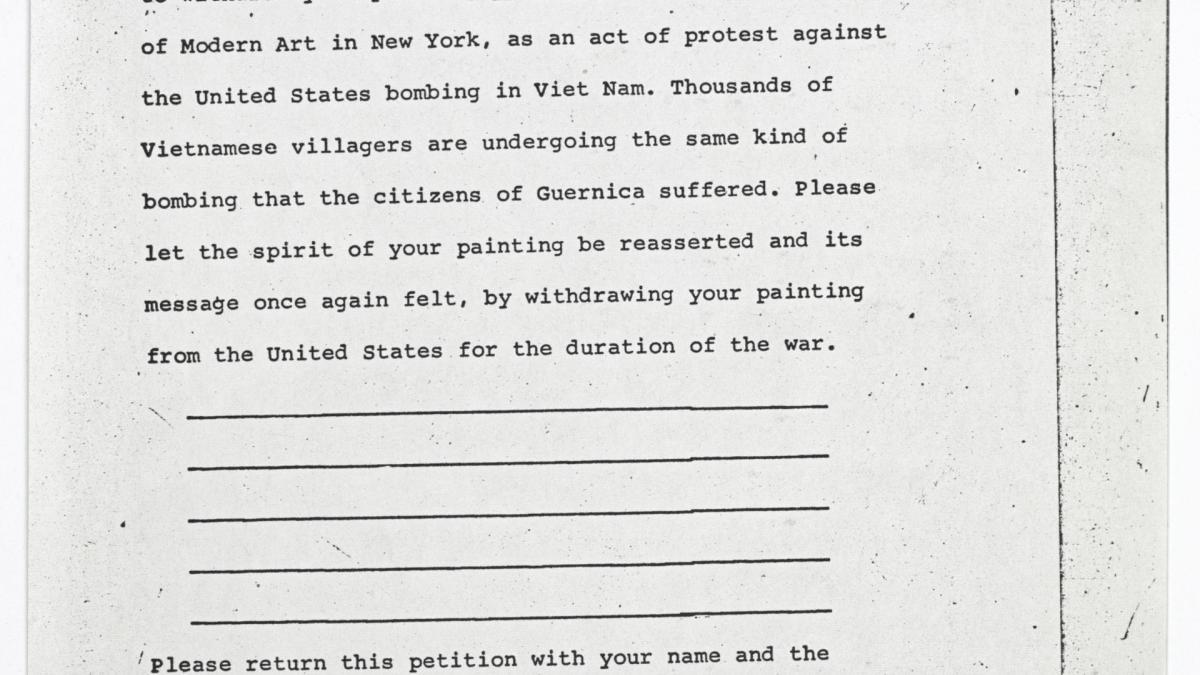 Petición de Angry Arts