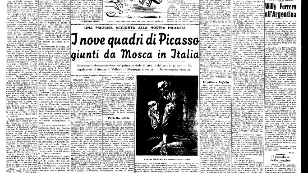 Los nueve cuadros de Picasso reunidos por Moscú para Milán