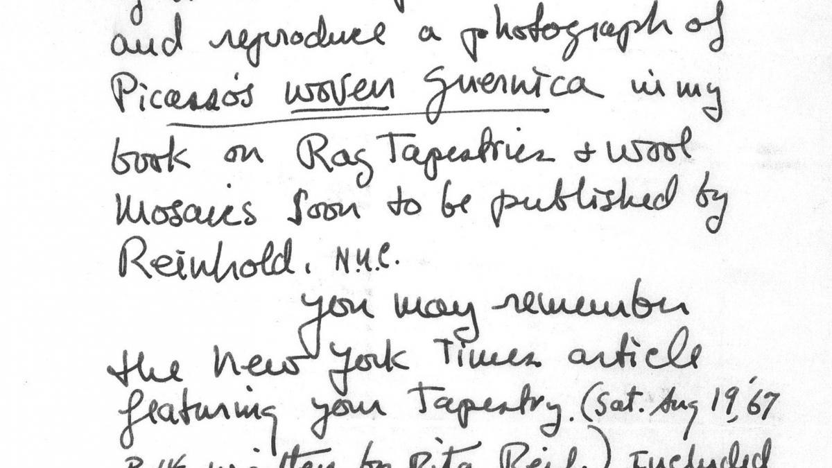 Carta de Anne Wiseman a Nelson Rockefeller