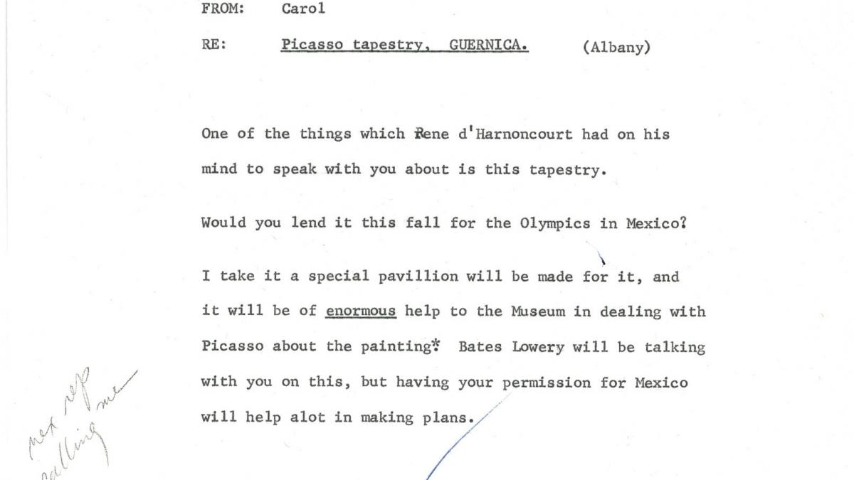 Carta de Carol K. Uht a Nelson Rockefeller del 27 de agosto de 1968