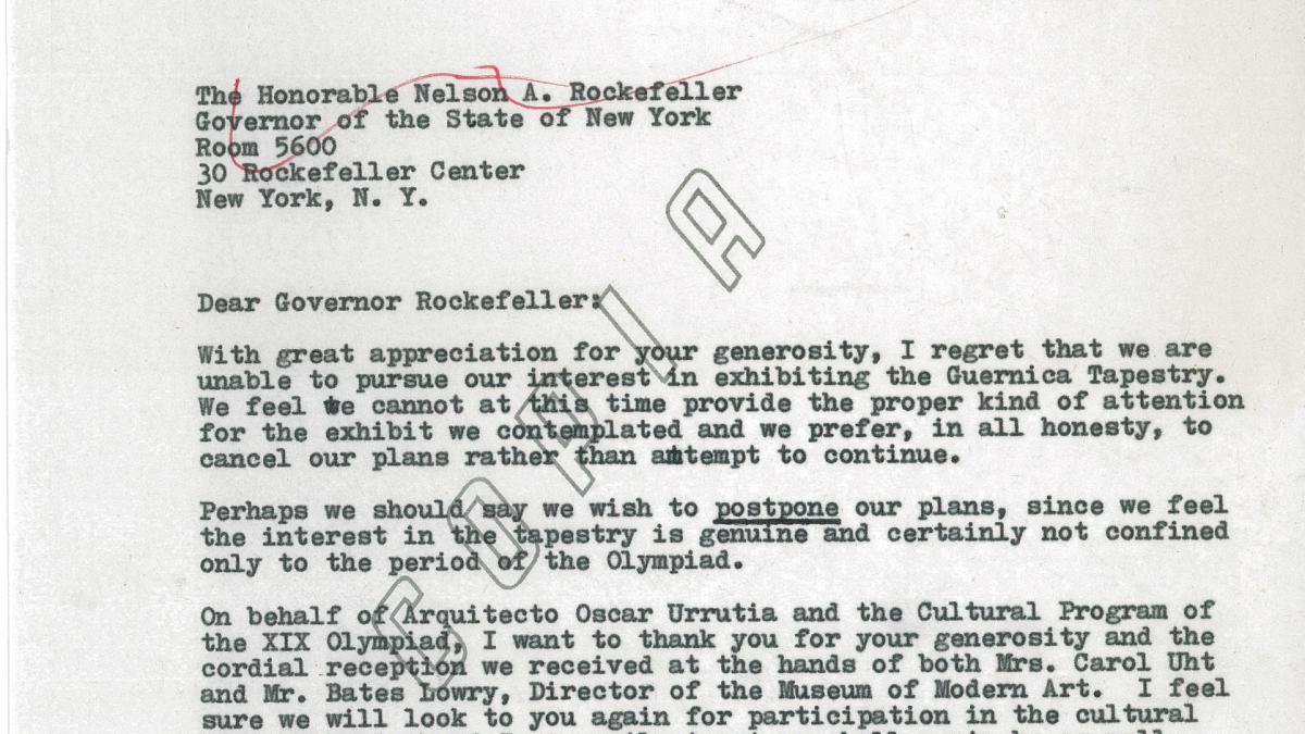Carta de Rachmael ben Avram a Nelson Rockefeller