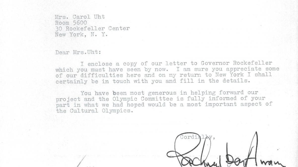 Carta de Rachmael ben Avram a Carol K. Uht