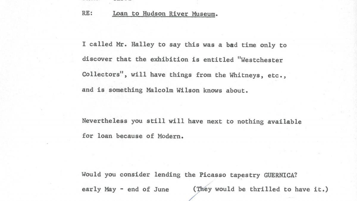 Carta de Carol K. Uht a Nelson Rockefeller del 24 de marzo de 1969