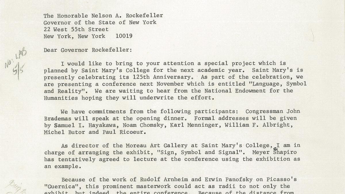 Carta de Richard-Raymond Alasko a Nelson Rockefeller
