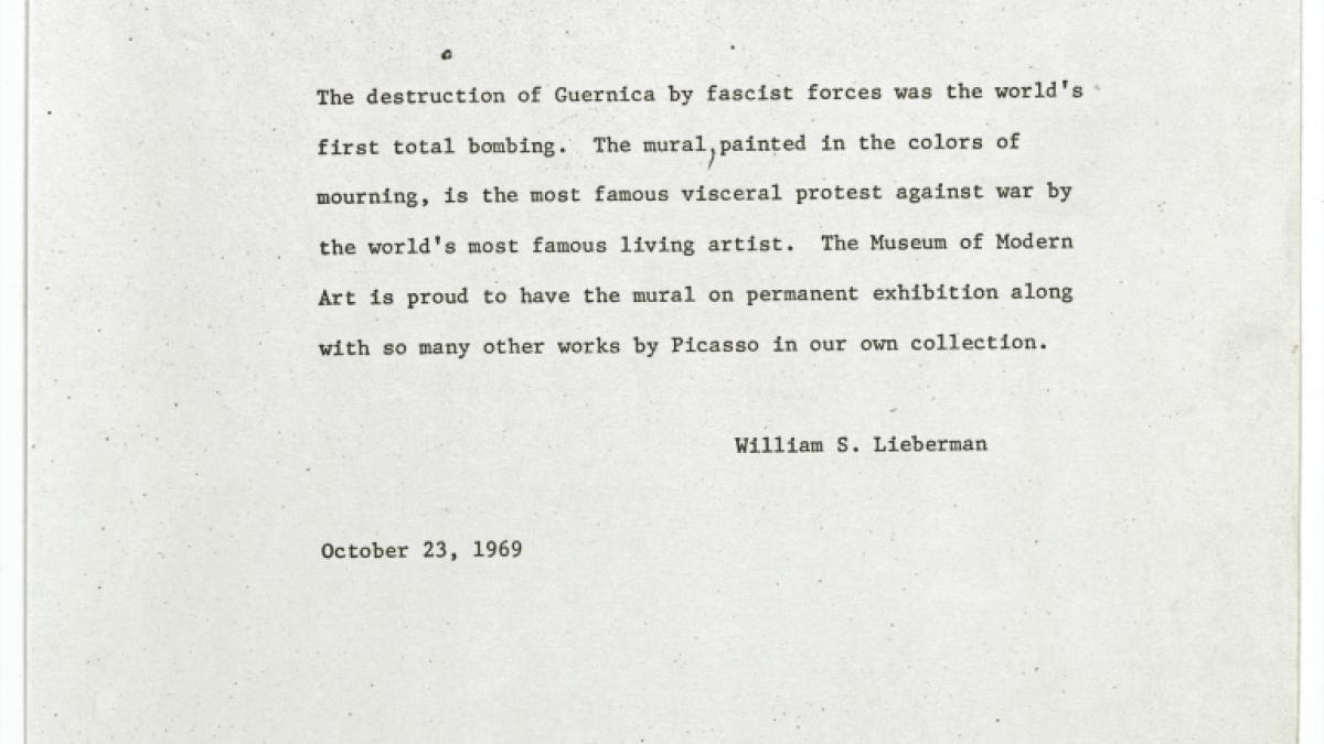 Nota de William S. Lieberman