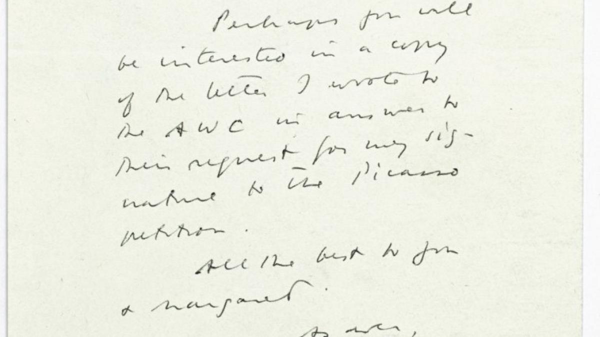 Carta de Meyer Schapiro a Alfred H. Barr Jr.