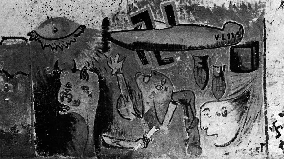 Mural en una fachada de Eibar