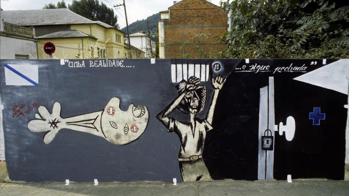 Mural de Anxo Santomil en el Barco de Valdeorras