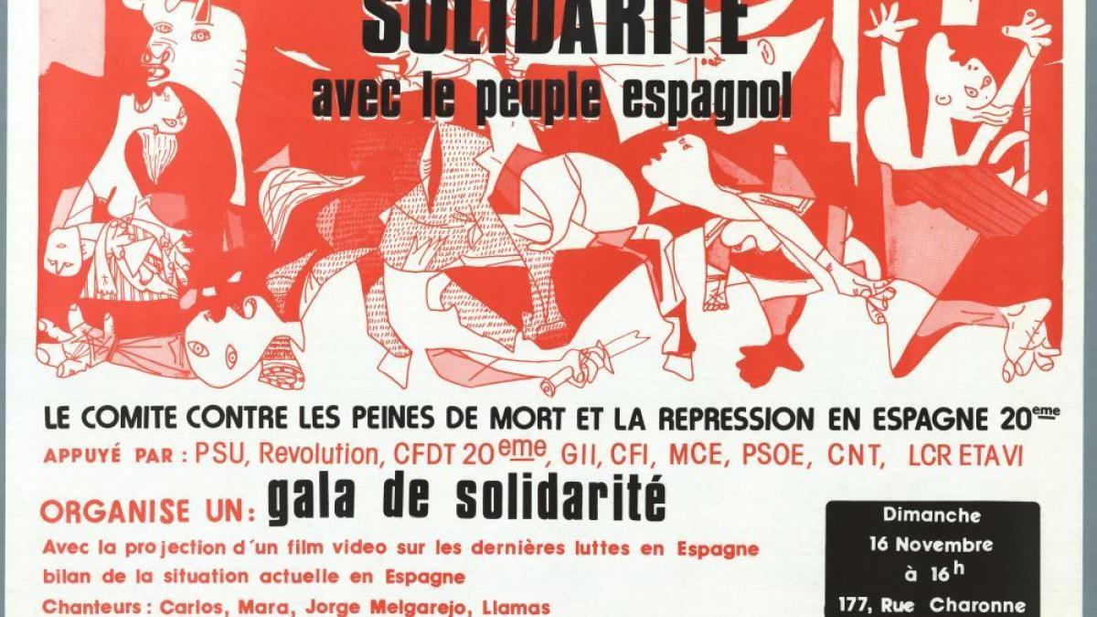 Solidarité avec le peuple espagnol