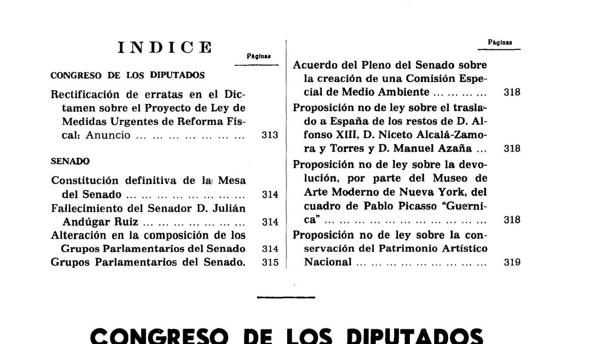 Official Bulletin of Spanish Parliament