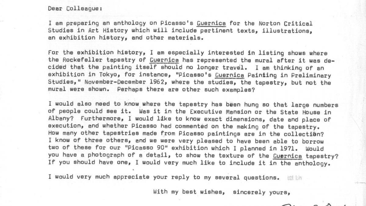 Ellen C. Oppler's letter to Carol K. Uht