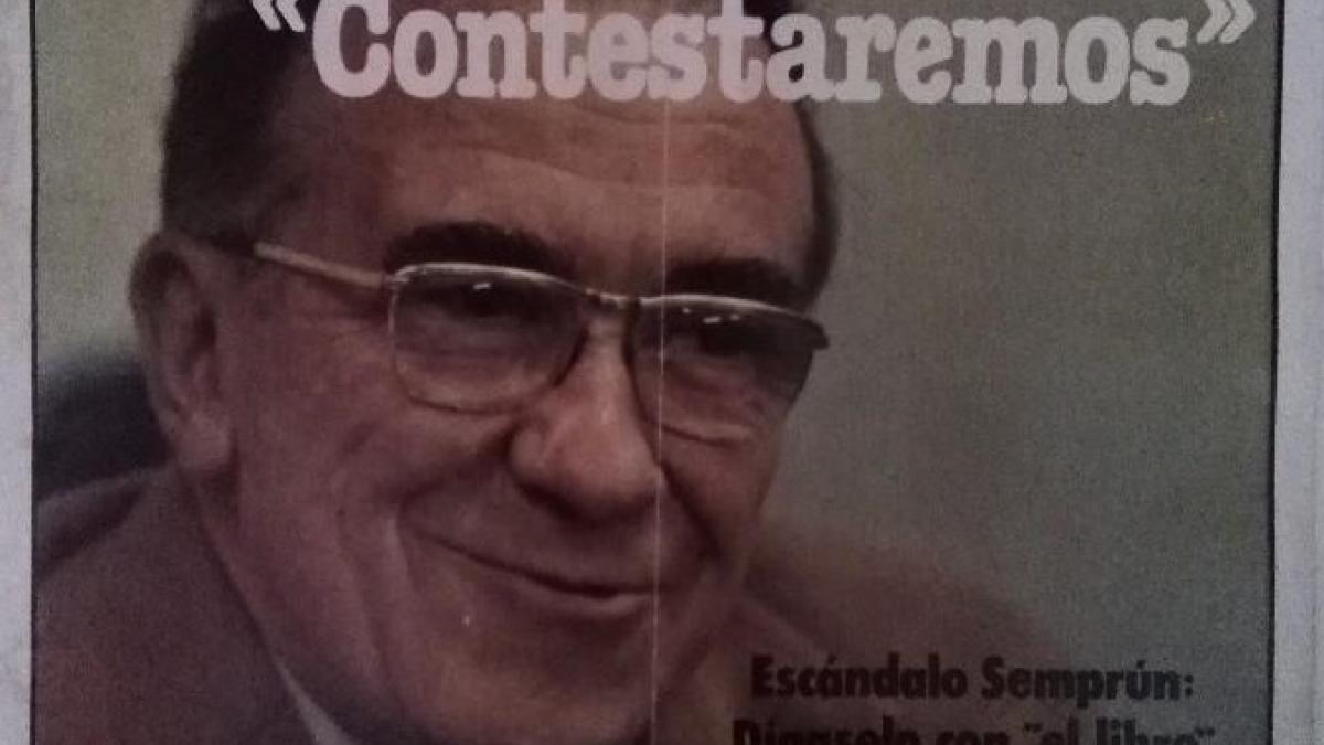 "An apocalyptic prophet, Juan Larrea, with ""Guernica"" in his hand"