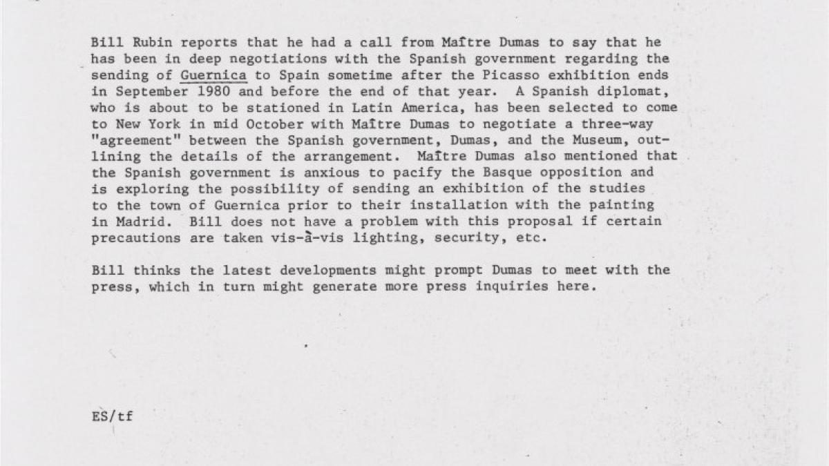 Carta de Ethen Shein a Richard E. Oldenburg