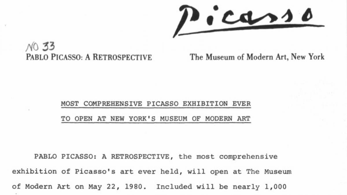 The most comprehensive Picasso exhibition ever to open at MoMA