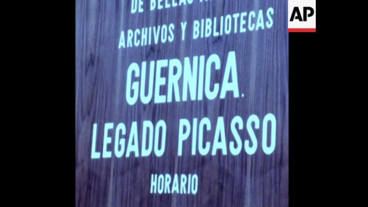 Guernica de Picasso llega a España