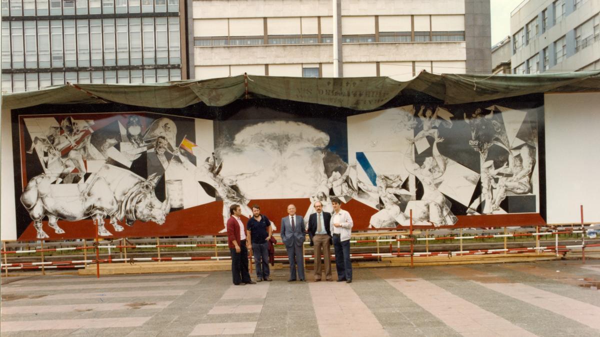 Mural de Guernica en el Ferrol