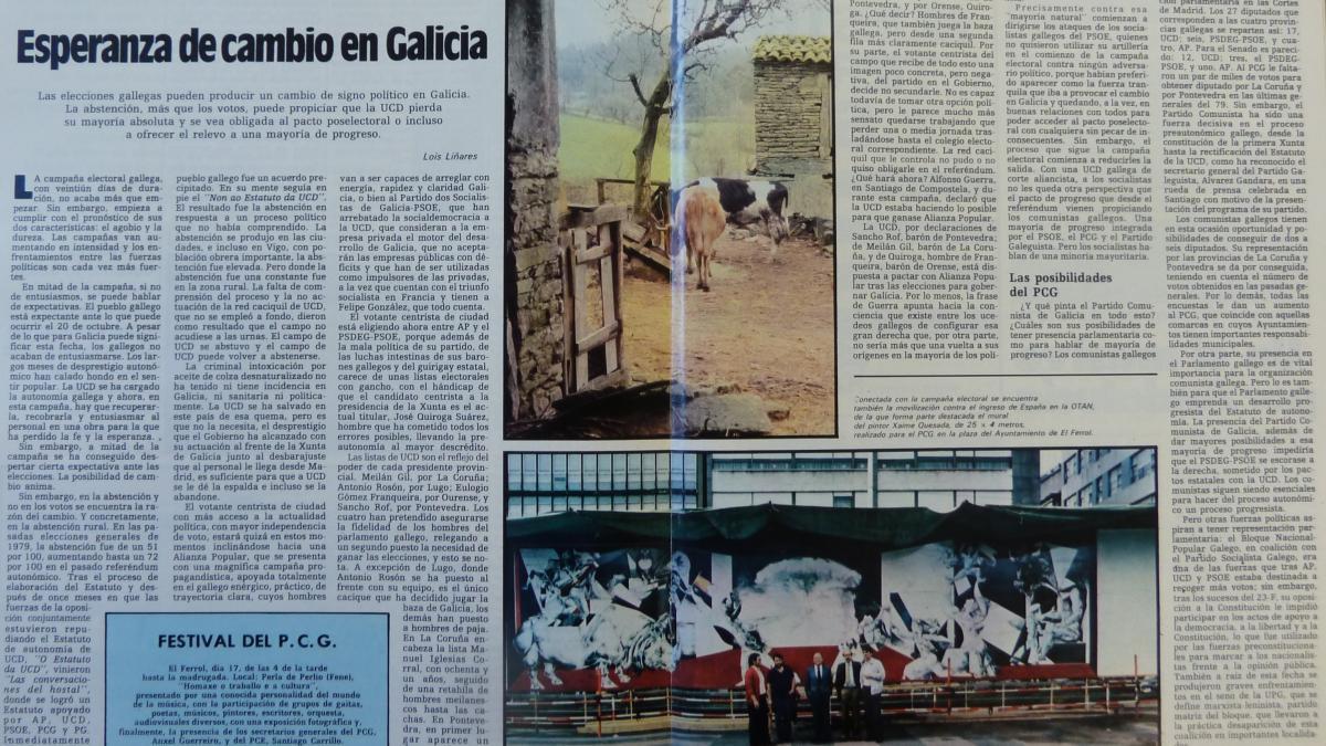 Esperanza de cambio en Galicia
