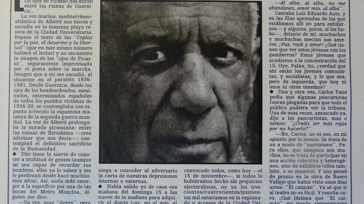 """Los ojos de Picasso y """"El caimán"""""""
