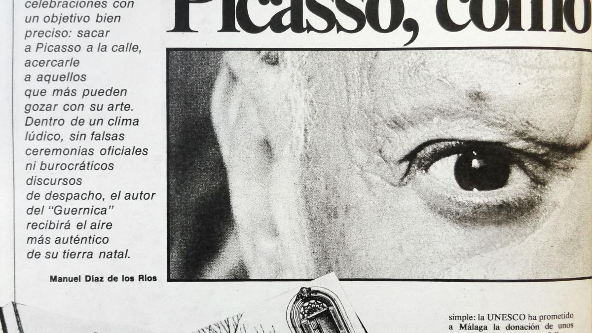 Picasso, como una fiesta