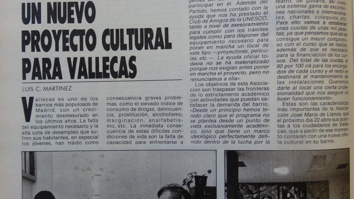 Un nuevo proyecto cultural para Vallecas