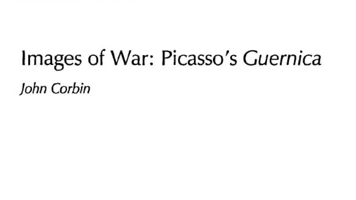 Imágenes de guerra: Guernica de Picasso