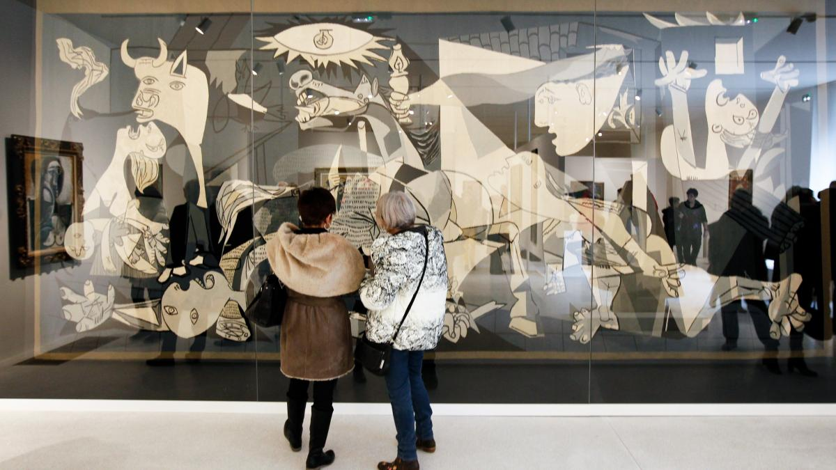 Replica Guernica tapestry at the Unterlinden Museum, Colmar, France