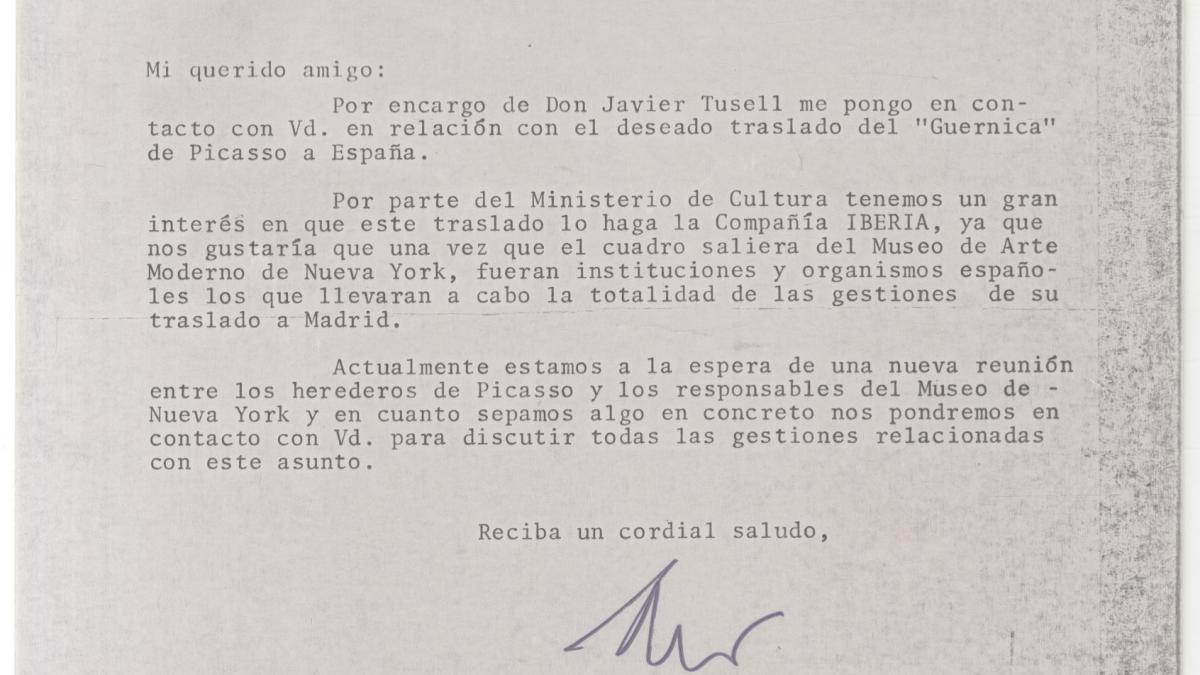 Carta de Felipe Cons Gorostola a Álvaro Martínez Novillo y respuesta
