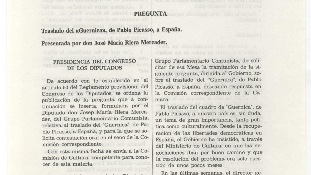 Official Bulletin of Spanish Parliament, dated 17 July 1981