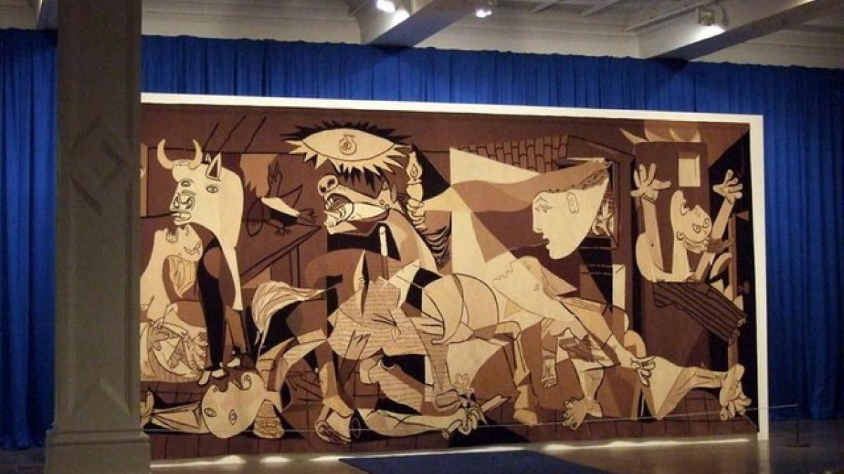 Réplica de Guernica en tapiz