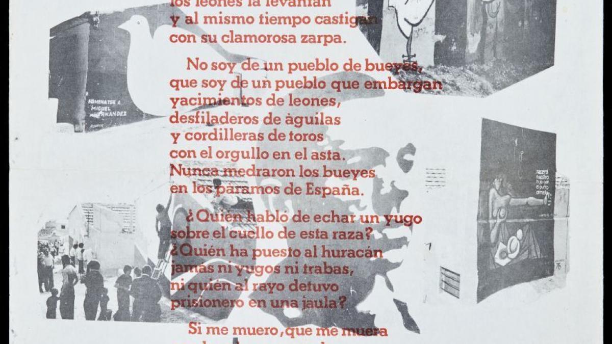 Fiesta homenaje del Partido Comunista de España con poema de Miguel Hernández