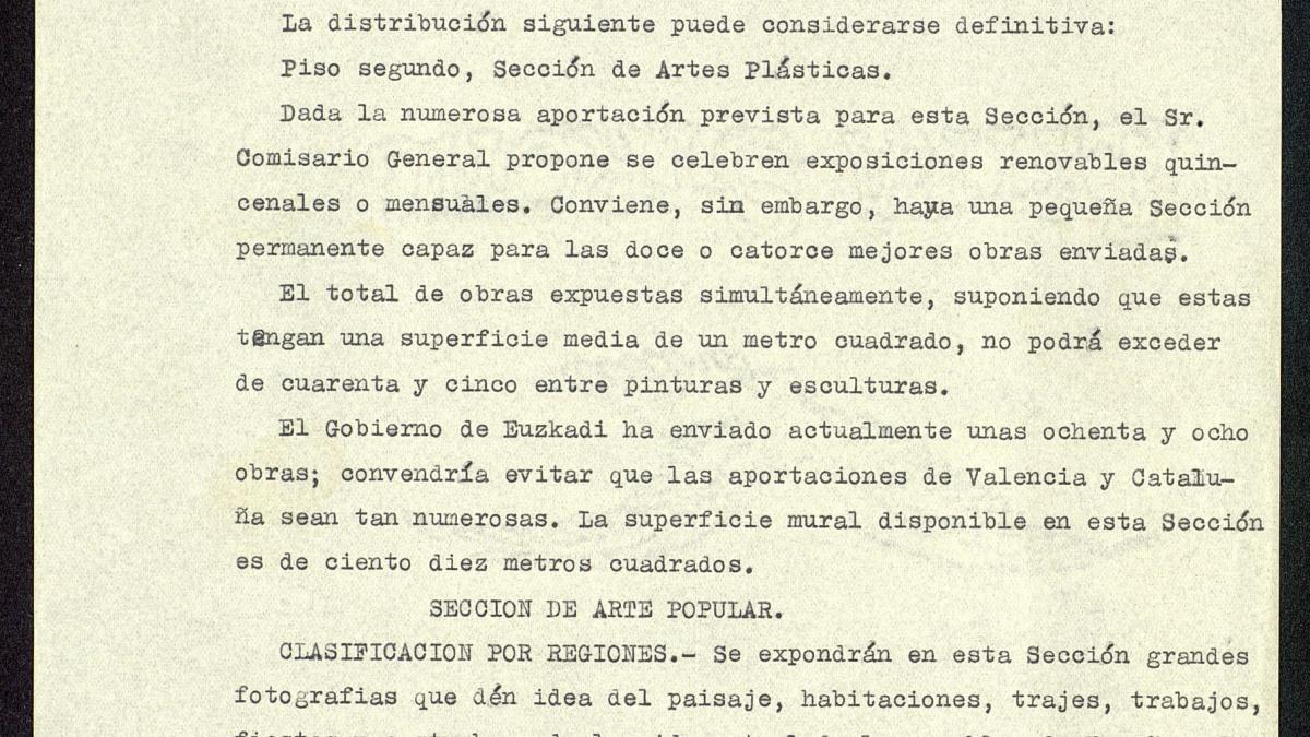 Memoria descriptiva del Pabellón de la República Española