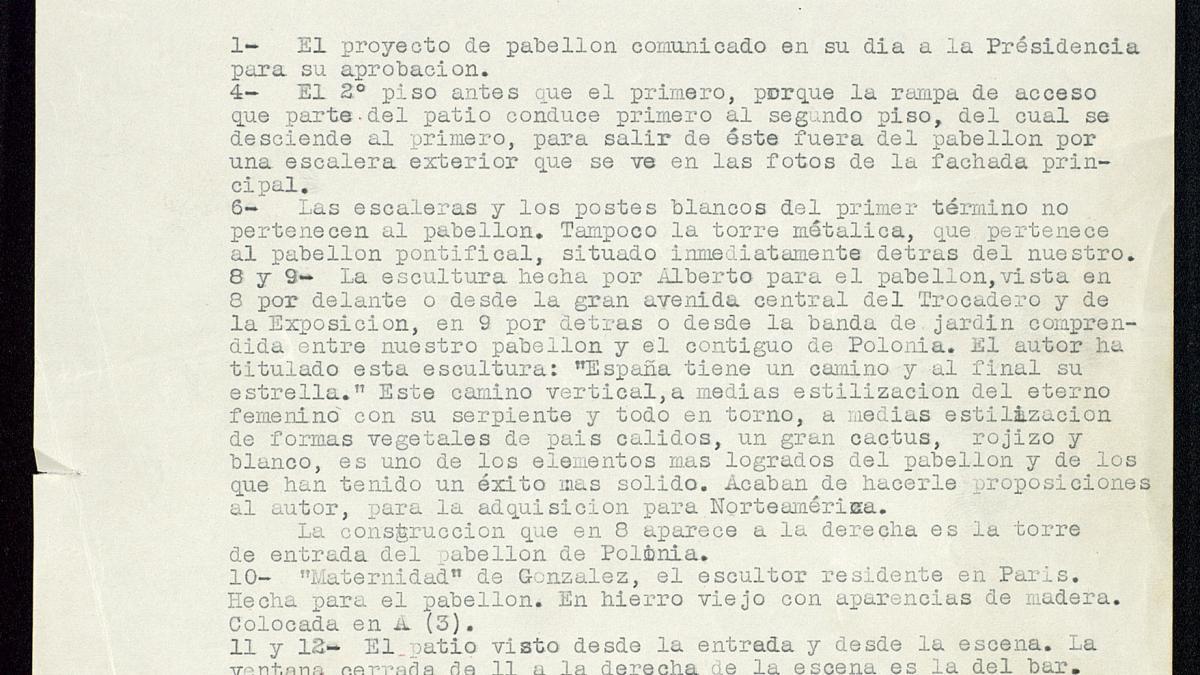 Descripción del Pabellón de España