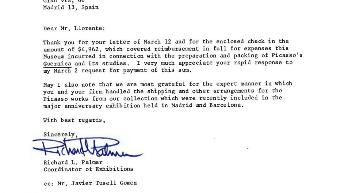 Carta del Museum of Modern Art de Nueva York a SIT
