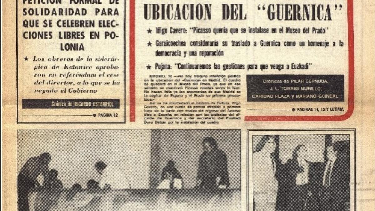 Polémica en torno a la ubicación del Guernica