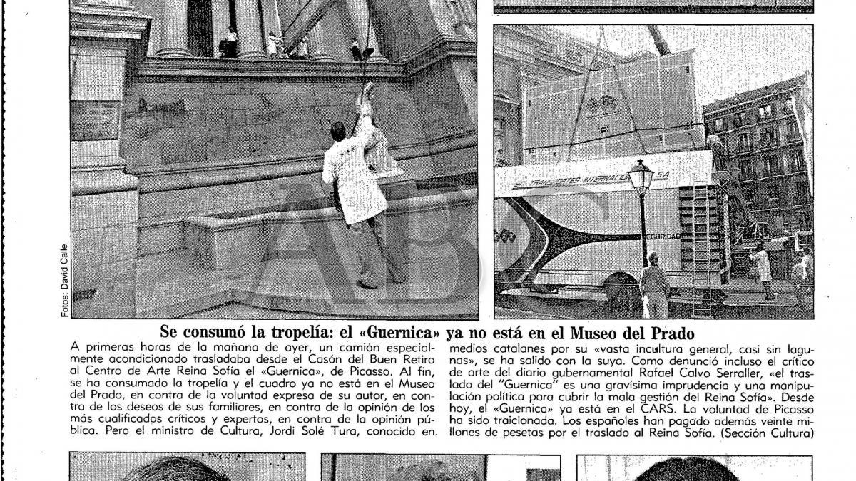 Se consumó la tropelía: el Guernica ya no estará en el Museo del Prado